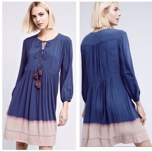 Anthropologie Holding Horses Dip Dyed Dress